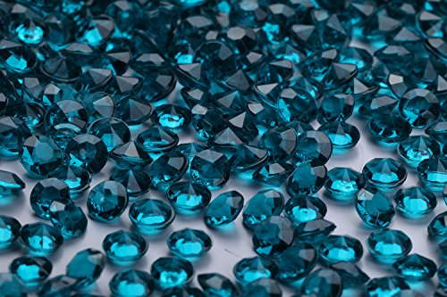 2000 pcs/Pack Wedding Table Scatter Confetti Crystals Acrylic Diamonds 8 mm Rhinestones for Wedding, Bridal Shower, Vase Beads Decorations (8mm, Turquoise)]()