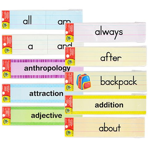 Back to School Toddler Pre-school Elementary School Classroom Teaching Tree Classroom Labels & Sight Word Strips