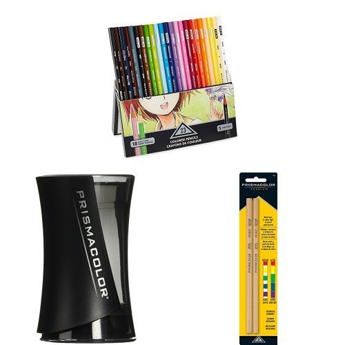 Prismacolor Manga (Prismacolor Premier Colored Pencils, Manga Colors, 23 Pack with Pencil Sharpener and Blender)