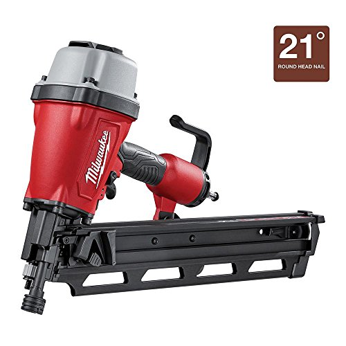Framing Power Tool Nails (Milwaukee 3-1/2 in. Full Round Head Framing Nailer | Hardware Power Tools for Your Carpentry Workshop, Machine Shop, Construction or Jobsite)