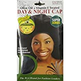 (PACK OF 12) DONNA OLIVE OIL + VITAMIN E DAY NIGHT CAP SUPER JUMBO #22374 BLACK