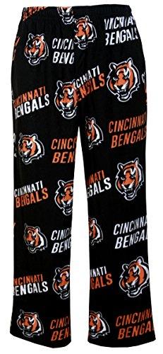 Concepts Sport Cincinnati Bengals NFL Men's Scattern Pattern Microfleece Pajama Pants 2XL 44-46 ()