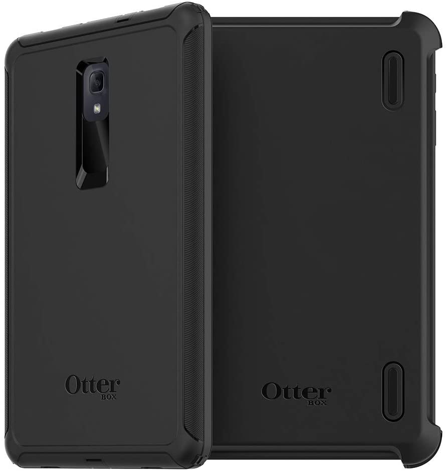 Otterbox Defender Series Case & Stand Cover for Galaxy Tab A 10.5 (2018) - Black (Renewed)