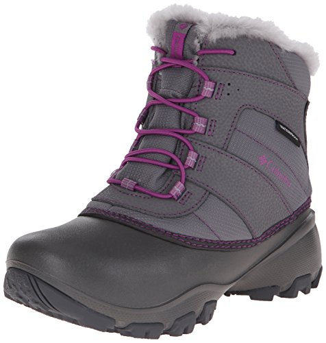 Columbia Youth Rope Tow I Waterproof Winter Boot (Little Kid/Big Kid), Charcoal/Razzle, 2 M US Little Kid by Columbia