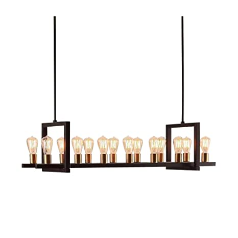 Farmhouse Chandelier Lighting Great For Dining Rooms And Kitchen Island  Areas. Rectangular Linear Hanging Lamp