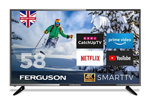 Ferguson F5820RTS4K 58 inch Smart 4K Ultra HD LED TV with streaming apps and catch up TV built-in 2020 Model Made in the…