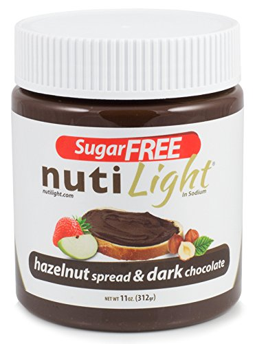 Nutilight Hazelnut and Cocoa Spread, 11 Ounce (Pack of 16) by Nutilight