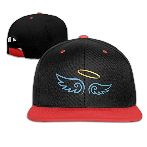 Creative Angel Wings Design Cotton Snapback Hip Hop Flat Tongue Hats Adjustable Unisex Baseball Caps For Outdoor Sport