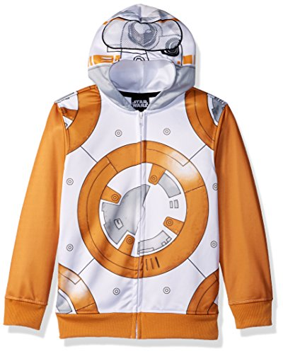Star Wars Big Boys Bb-8 Fleece Zip Costume Hoodie, Multi, X-Small-8 -