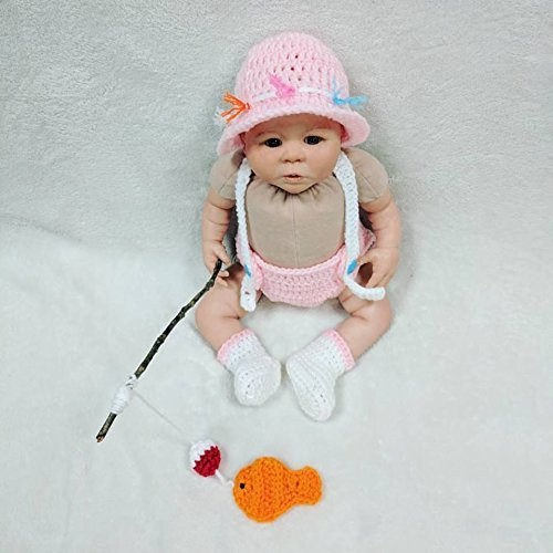 Amazoncom Crochet Newborn Fishing Outfitbaby Photo Props Newborn
