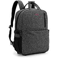 Amzbag Camera Backpack SLR/DSLR Camera Bag Outdoor Bag With 15.6 Inch Laptop compartment Include Removable Camera Organizer Carrying Bag for All SLR/DSLR (Black)