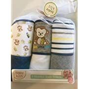 Baby Kiss Monkey and Bananas Hooded Bath Towels