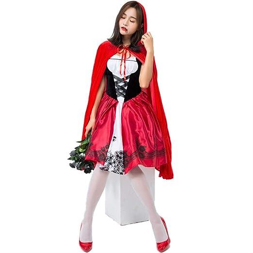 HG-amaon Caperucita Roja de Halloween Cos Cuentos de Hadas ...