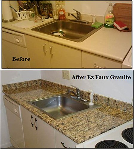 Kitchen Granite Countertop Look W Adhesive Pet Pvc Film
