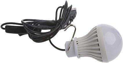 LEDMOMO 5 W USB LED Bombilla Farol con Cable USB para Camping ...