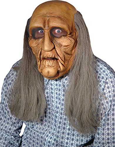 SALES4YA Scary-Masks Old Man Realistic Mask Halloween Costume - Most Adults -