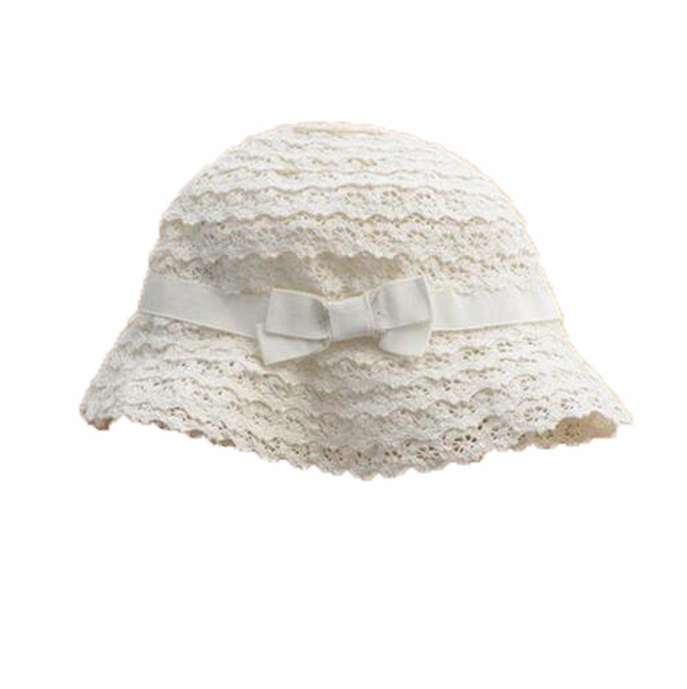 092d01c4453 Amazon.com  Summer Baby Girl Caps Cotton Sun Hat For 2-3 Years Baby White  Lace  Baby
