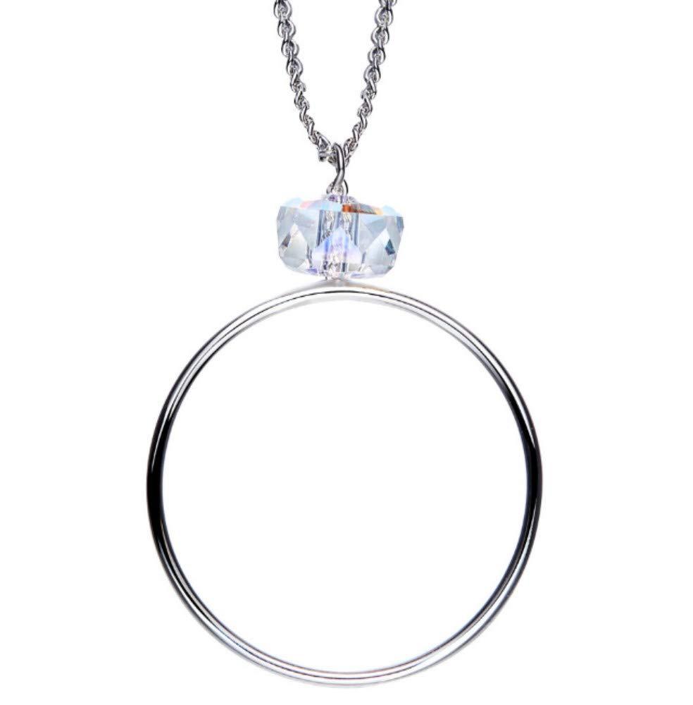 QWERST女性ネックレススターリングシルバー人格ペンダントシンプルファッション絶妙なネックレス最高の贈り物   B07NPTSWNS