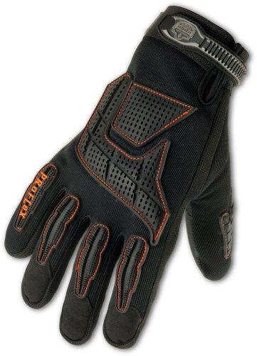 Ergodyne ProFlex 9015F(x) Certified Anti-Vibration Glove with Back Hand Protection, Medium, Black