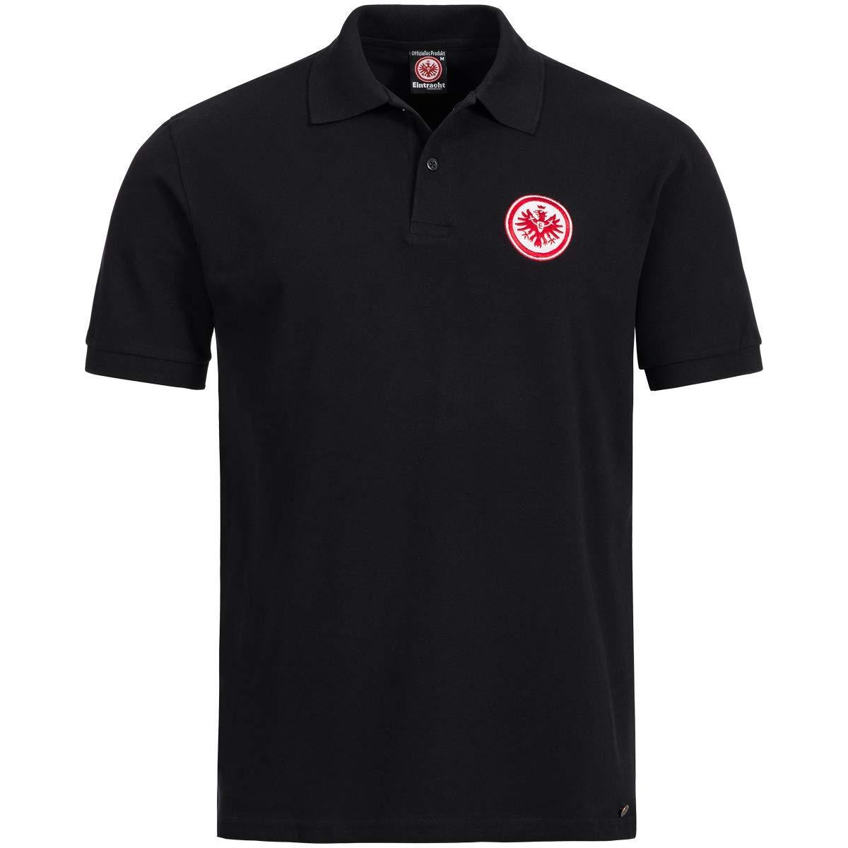 Eintracht Frankfurt Poloshirt Logo Logo Logo schwarz, Shirt, Polo Herren SGE - Plus Aufkleber Frankfurt Forever B07QJY7B4M Poloshirts Ausgewählte Materialien b68919