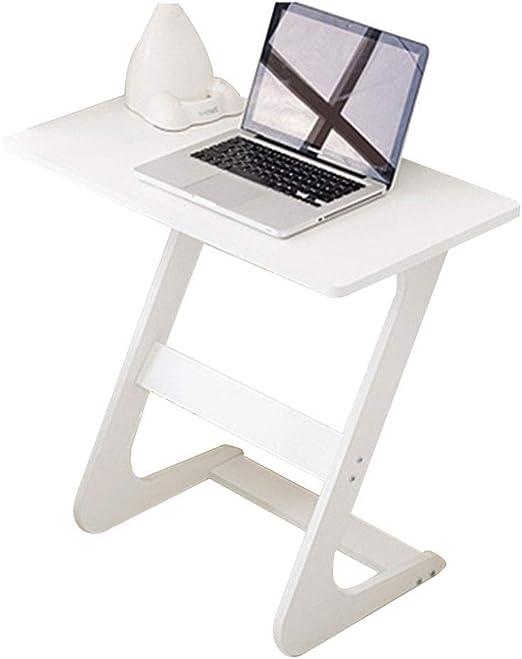 WYJW Tipo Z Mesa para portátil Blanca Mini Escritorio Plegable ...