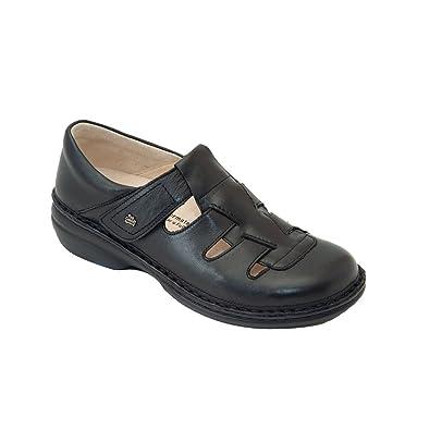 Finn Comfort Quebec Womens Flats, Black Nappa, Size - 35