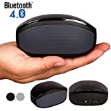 Bluetooth Speakers, Alpatronix® [AX400] Universal Ultra Portable 6W Mini Wireless Rechargeable Stereo Bluetooth Speaker with Built-in Mic, Passive Subwoofer, Volume/Playback Controls, Powerful 6 Watt Sound for Indoor/Outdoor Compatible with Apple iPhones, iPads, Samsung Galaxy, Android Smartphones, Tablets, Laptops & PC Desktop Computers [12+ Hours of Playback Time] - (Black)