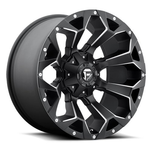 Fuel Offroad D546 Assault 20x9 8x180 +1mm Matte Black/Milled Wheel Rim