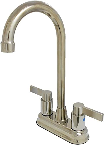 Woodbridge F0003 BN Freestanding Tub Faucet Square Design,Brushed Nickel Finish F-0003