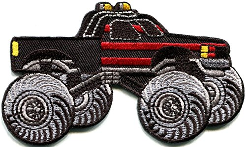Monster truck 4 X 4 pickup auto racing ute embroidered applique iron-on patch