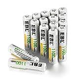 EBL Rechargeable AAA Batteries (16-Counts) High Capacity 1100mAh Ni-MH
