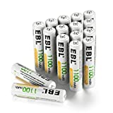 EBL Rechargeable AAA Batteries (16-Counts) Ready2Charge 1100mAh Ni-MH Battery - UL Certified