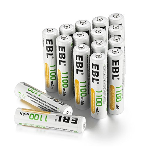 Aaa Batteries Voltage - EBL Rechargeable AAA Batteries (16-Counts) High Capacity 1100mAh Ni-MH - UL Certified
