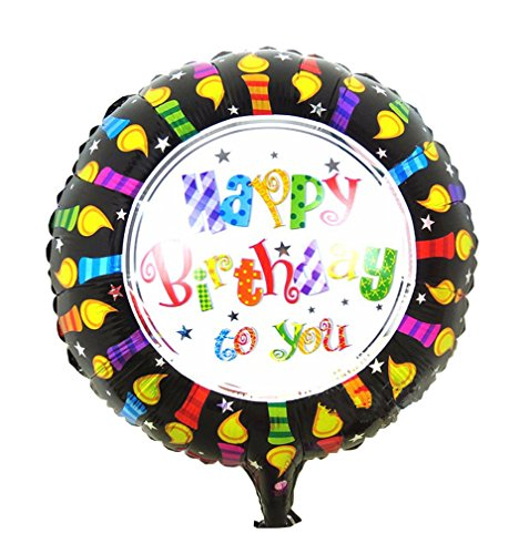 [Happy Birthday Foil Balloons Children Inflatable Toys Helium Balloon Party Decoration (Black)] (Dance Central Character Costumes)