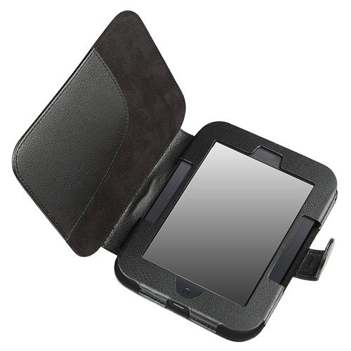 TOOGOO(R) Leather Case for Barnes and Noble Nook Simple Touch with GlowLight , Black