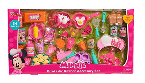 Disney 88910 Just Play Minnie Bow-Tique Bowtastic Kitchen Accessory Set, Multicolor