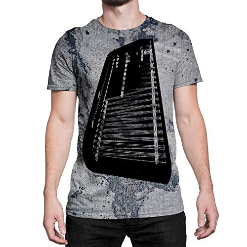 Idakoos Instruments Cimbalom 3D - Men T-Shirt Polyester L (Cimbalom Instruments)