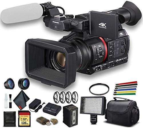 Panasonic Ag Cx350 4k Camcorder Ag Cx350 Mit Gepolsterter Tasche 128 Gb Speicherkarte Drahtgurte Led Licht Und Mehr Advanced Heimkino Tv Video