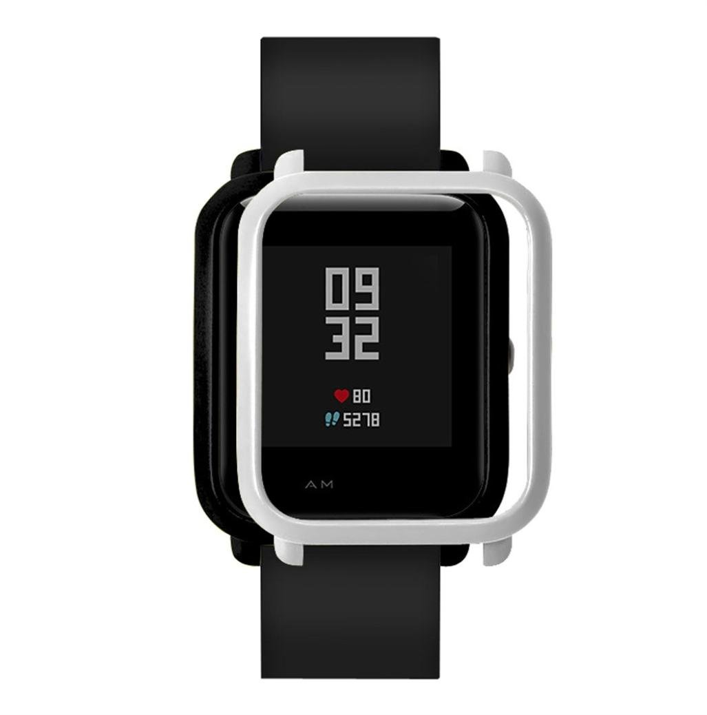 For Huami Huami Watch Case Cover,PrettyW Plastic Protective Bumper Case Cover for Huami Amazfit Bip Younth Watch (Sliver)