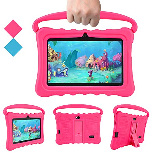 Kids Tablets Pc Veidoo 7 Inch Android Kids Tablet With 1gb Ram 16gb Storage Safety Eye Protection Ips Screen Premium Parent Control Pre Installed Educational App Best Gift For Children Pink