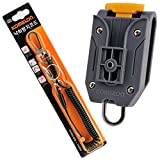 Komelon Tape Measure Belt Holder Quick Draw Safety Code Rope Tool Fall Protection Lanyard Clip Keychain Set Black