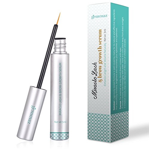 Eyelash & Eyebrow Growth Serum, Eyelash Enhancer (5 ML) Grows Longer, Fuller, Thicker Lashes