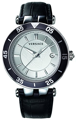 Versace Men's VQP010015 V-Race Black Stainless Steel Watch