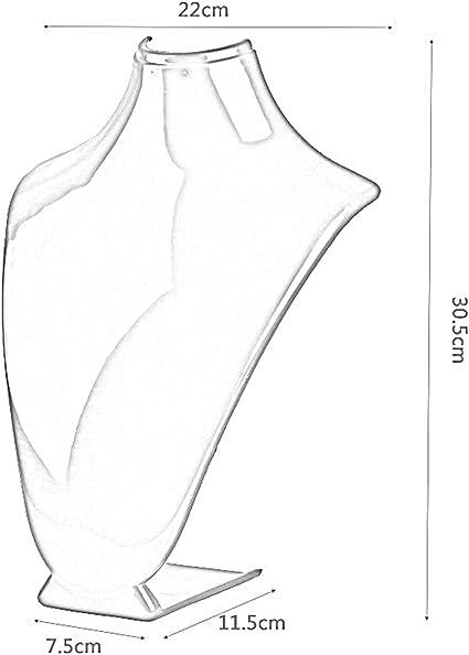 Jiobapiongxin Scaffale di Esposizione da tavolino del Supporto della Catena del Supporto dei Gioielli del Supporto di Mostra Acrilico della Collana