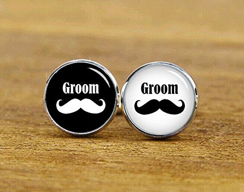 Mustache cufflinks, personalized cufflinks,man cuff links,wedding cufflinks,mustache gift mens gift mens - Mustache To Wear A How