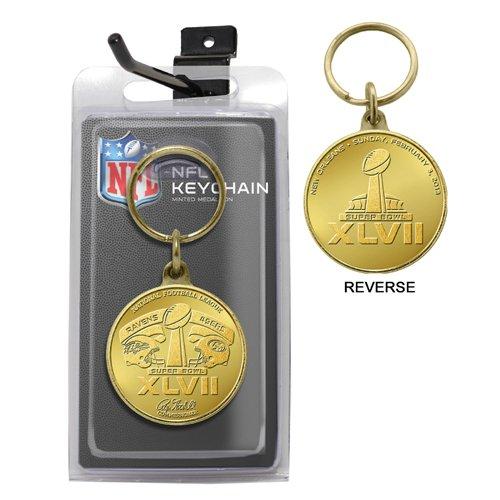 (NFL Super Bowl XLVII Flip Coin Keychain)