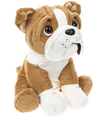 20 cm Cute Sitting British English Bulldog Dog Puppy Teddy Soft Plush Beanie Toy
