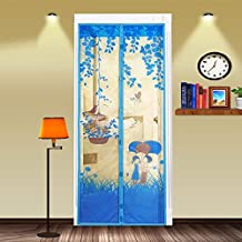 Toonol 90 x 210cm 1Pcs Summer Style Bug Mesh Door Magnetic Curtains Net Screen Anti Mosquito Bug Fly Home Gate Door,#4