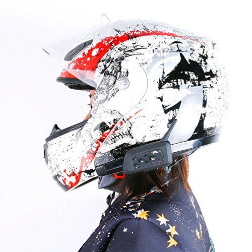 Helmet Wireless Bluetooth Intercom High-power Headset 6 Riders 1200m Waterproof Interphone 2 Pack by Eroboo (Image #5)