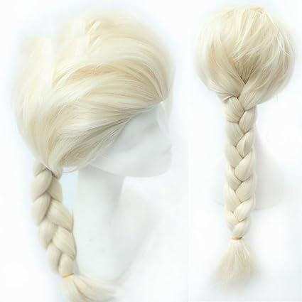 Disney Película Frozen Princess Elsa Adult Long Dreadlocks Cosplay peluca personajes de dibujos animados pelucas diarias